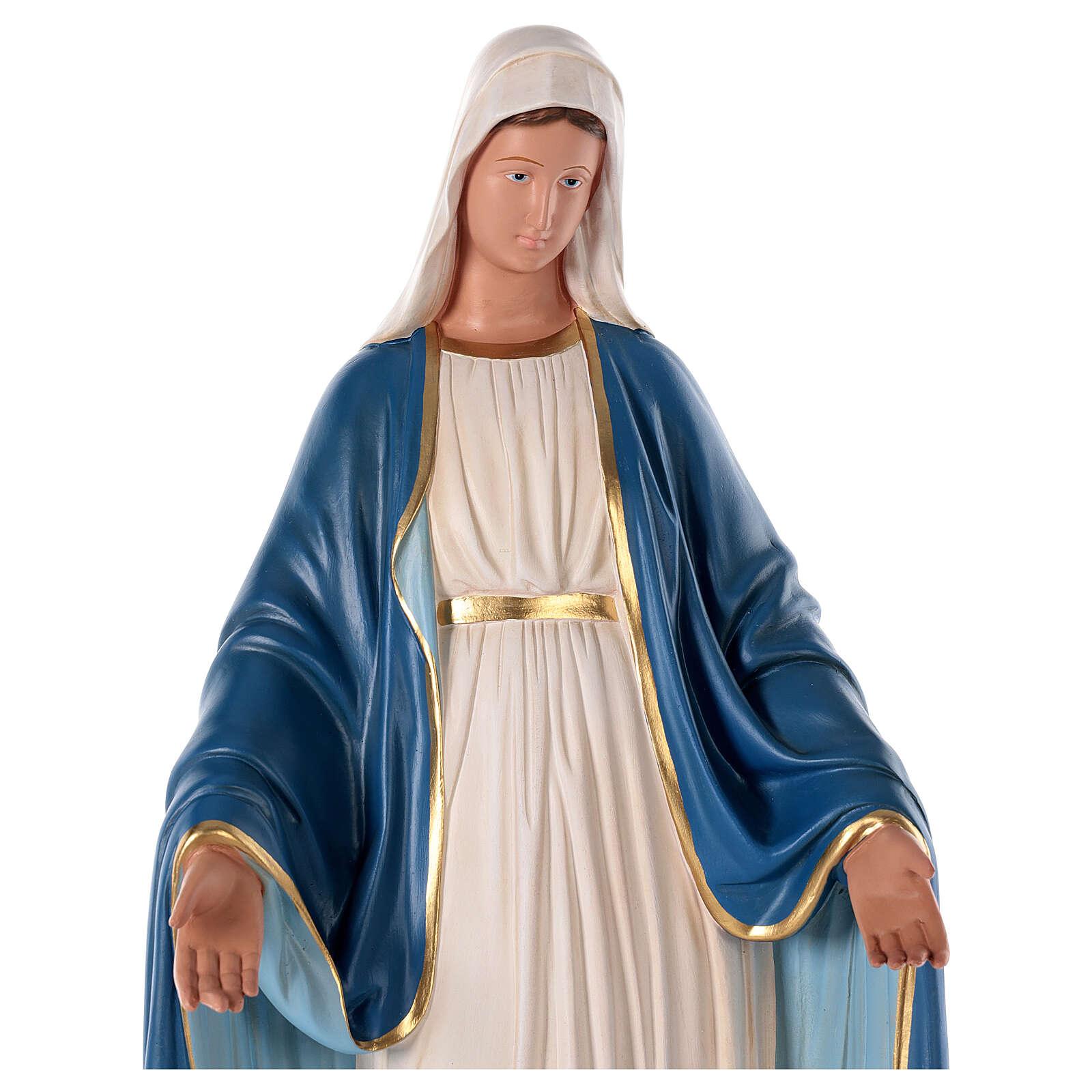 Virgen Inmaculada 80 cm estatua yeso pintada Barsanti 4