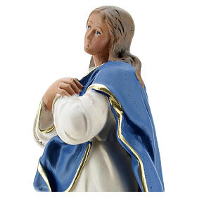 Immaculate Virgin Mary of Murillo 25 cm plaster hand painted Arte Barsanti s2