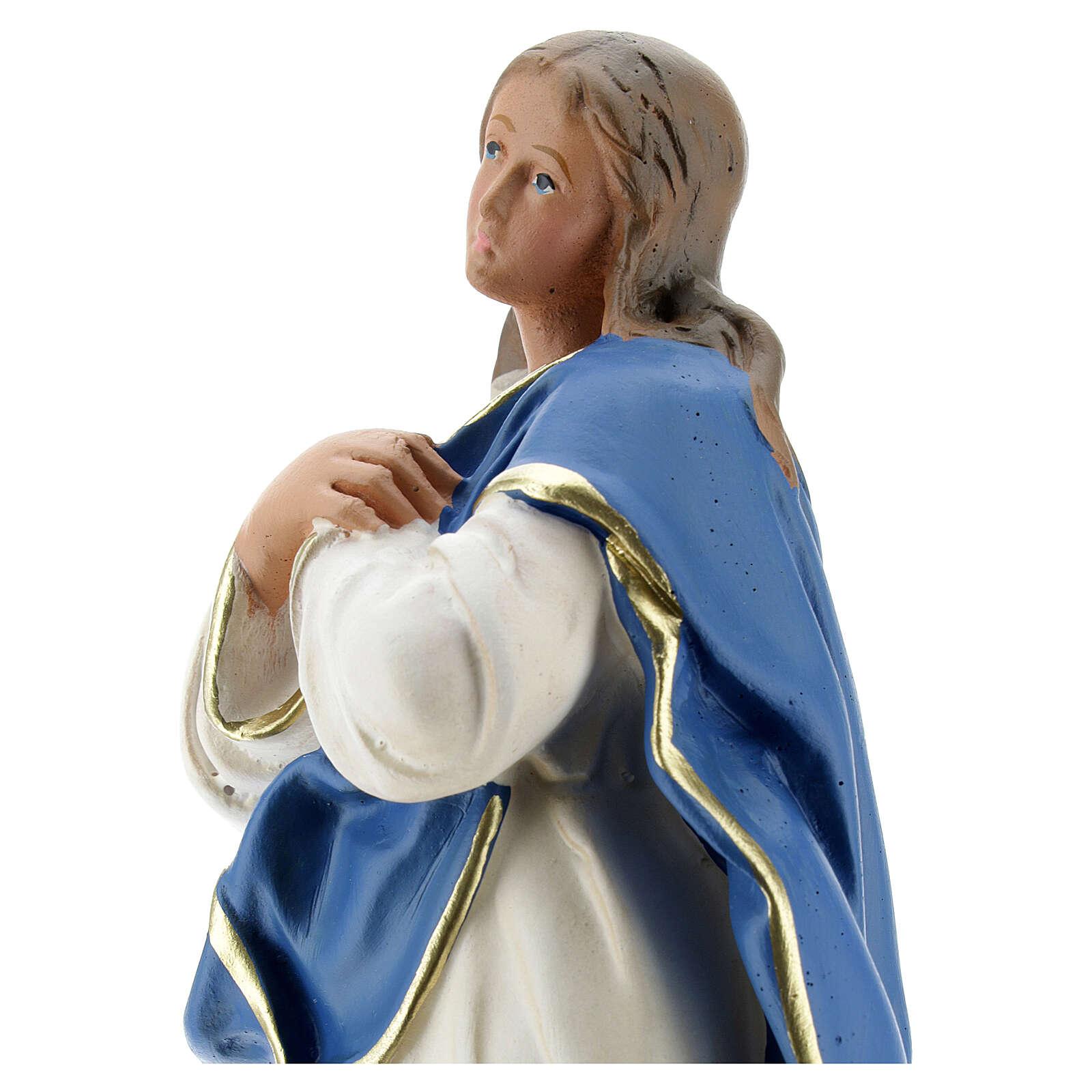 Madonna Immacolata del Murillo 25 cm statua gesso Barsanti 4