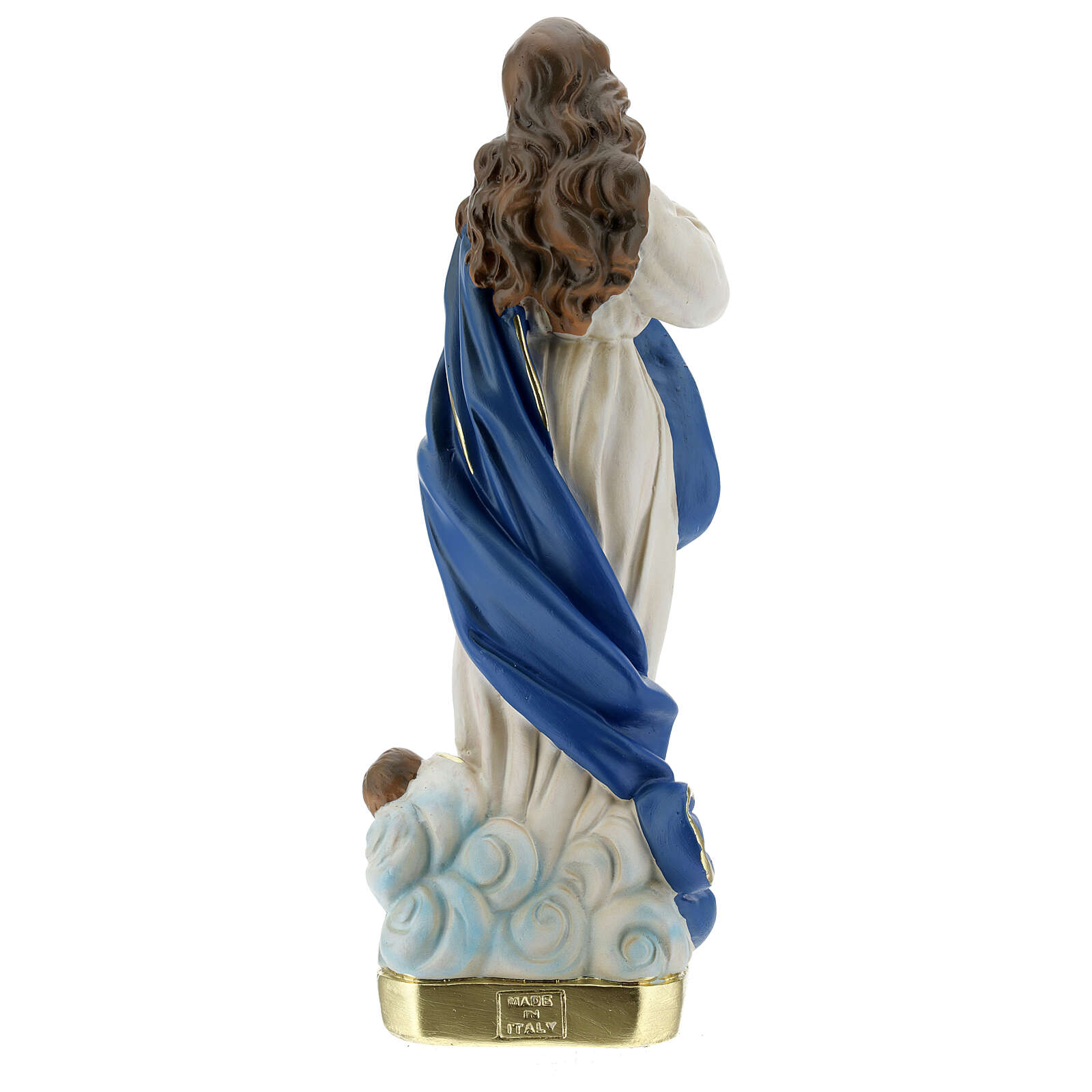 Immaculate Virgin Mary of Murillo 30 cm plaster hand painted Arte Barsanti 4