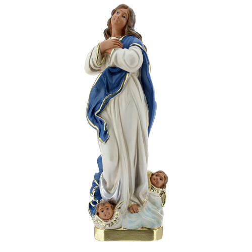 Immaculate Virgin Mary of Murillo 30 cm plaster hand painted Arte Barsanti 1