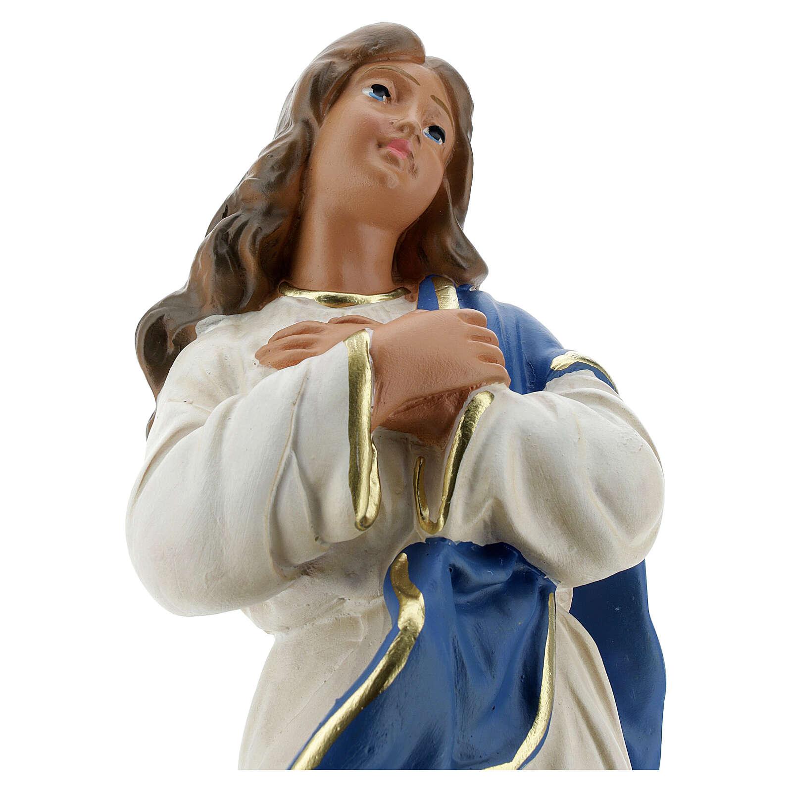 Statua Madonna Immacolata del Murillo 30 cm gesso Barsanti 4