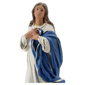 Madonna Immacolata del Murillo 40 cm gesso dipinto Barsanti s2