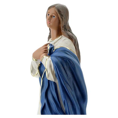 Madonna Immacolata del Murillo 40 cm gesso dipinto Barsanti 6