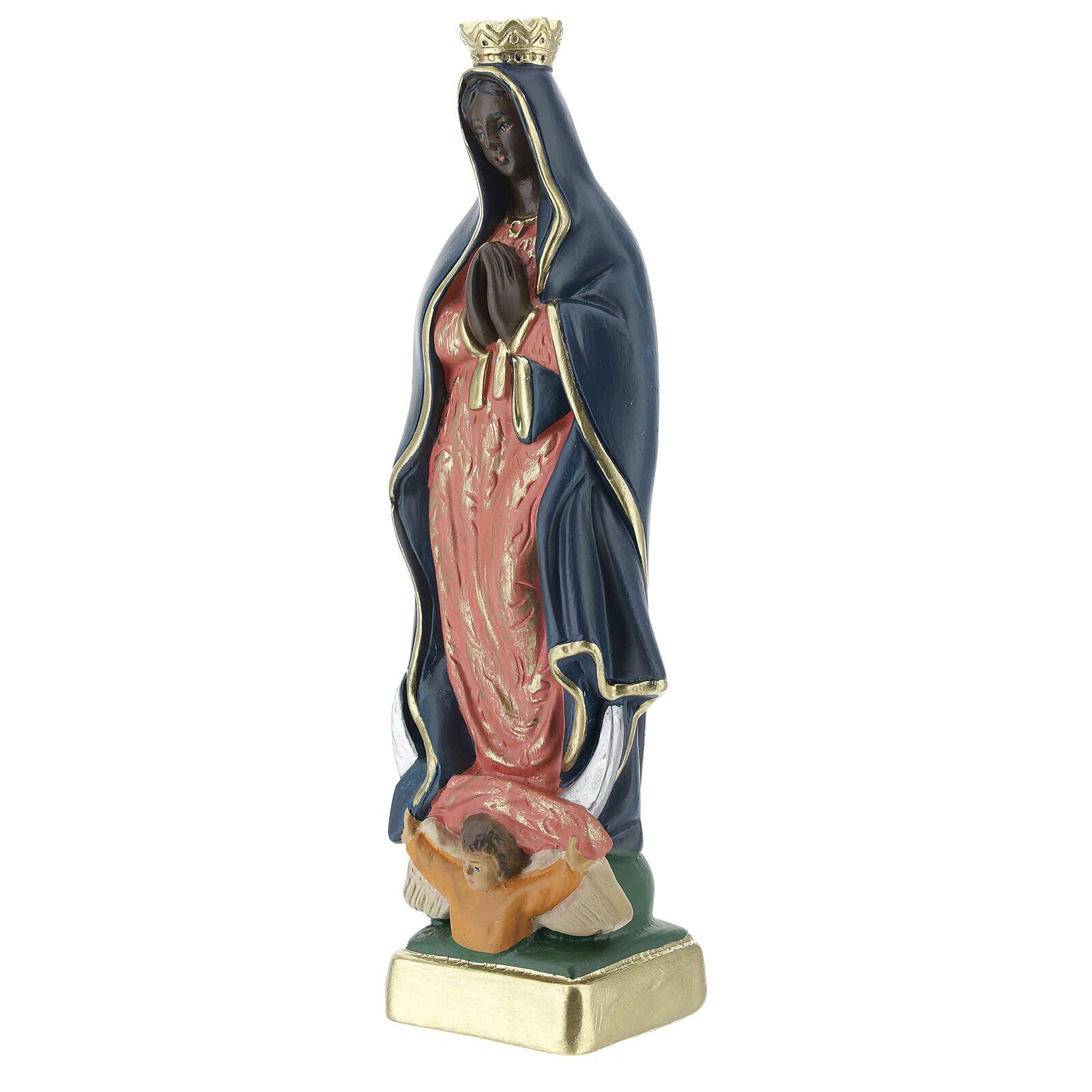 Notre-Dame de Guadalupe statue plâtre 20 cm Arte Barsanti 4