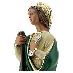 St. Martha statue plaster 30 cm hand painted Arte Barsanti s2