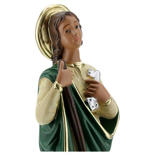 St Martha statue, 30 cm hand painted plaster Arte Barsanti 4