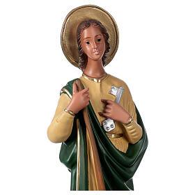 Sainte Marthe 40 cm statue plâtre peint main Arte Barsanti s2