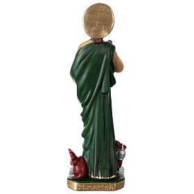 Sainte Marthe 40 cm statue plâtre peint main Arte Barsanti s5
