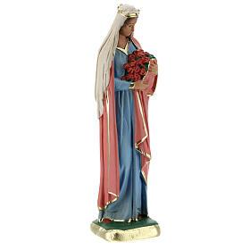 Estatua Santa Elisabetta 20 cm yeso pintada Arte Barsanti s4