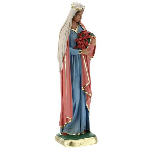 Estatua Santa Elisabetta 20 cm yeso pintada Arte Barsanti 4