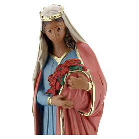 St Elizabeth of Hungary statue, 20 cm painted plaster Arte Barsanti s2