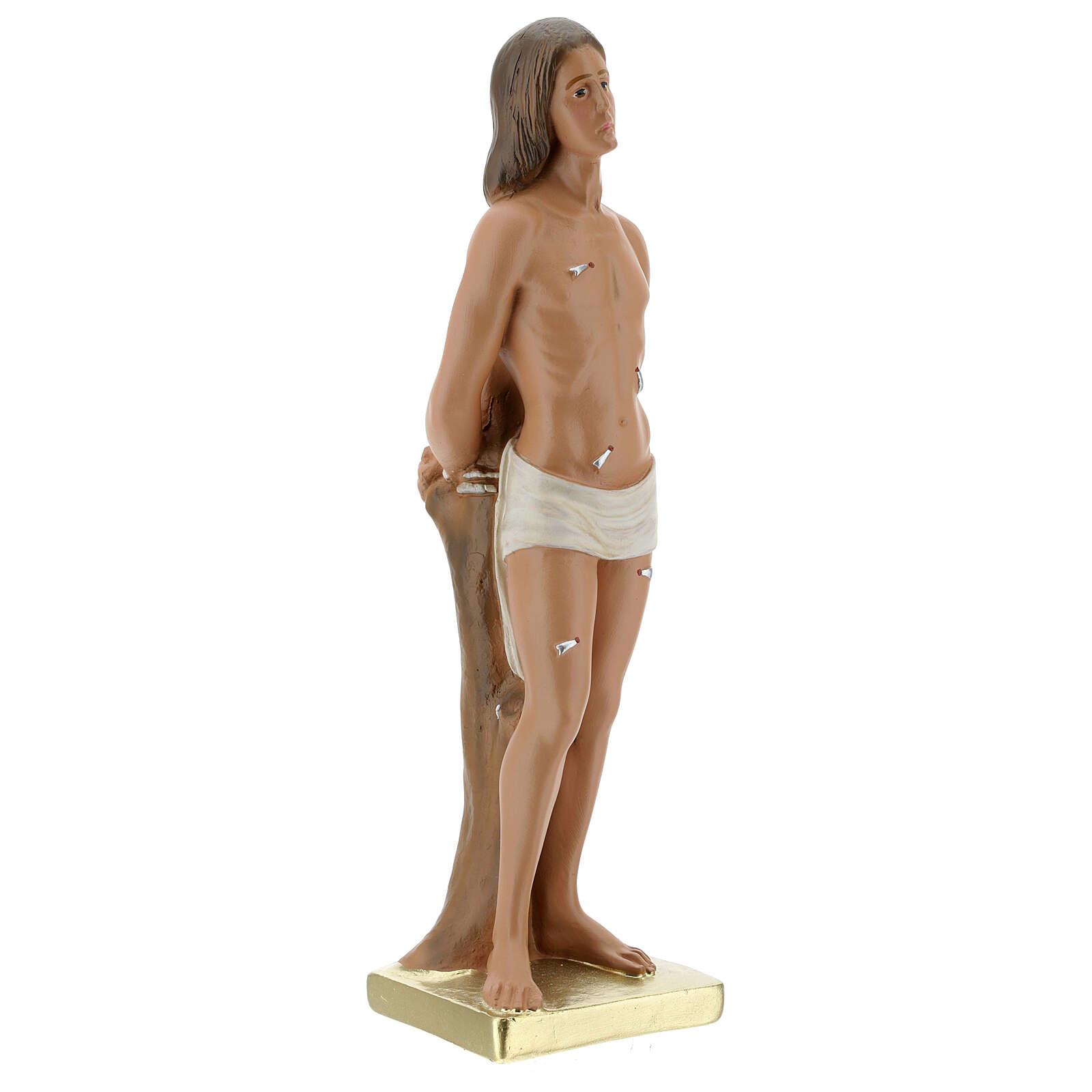 St. Sebastian 30 cm plaster statue Arte Barsanti 4