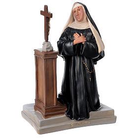 Statue Sainte Rita Cascia agenouillée 40x28 cm plâtre Arte Barsanti s4
