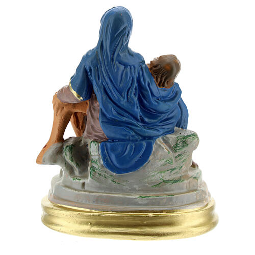 La Pietà statua gesso dipinta a mano 9x13 cm Arte Barsanti 4