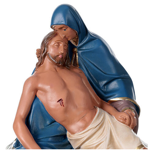 Statue La Pietà plâtre peint main 30x30 cm Arte Barsanti 2
