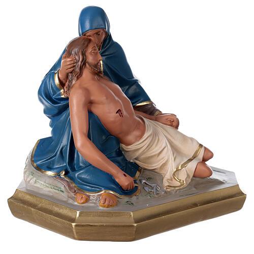 Statue La Pietà plâtre peint main 30x30 cm Arte Barsanti 4