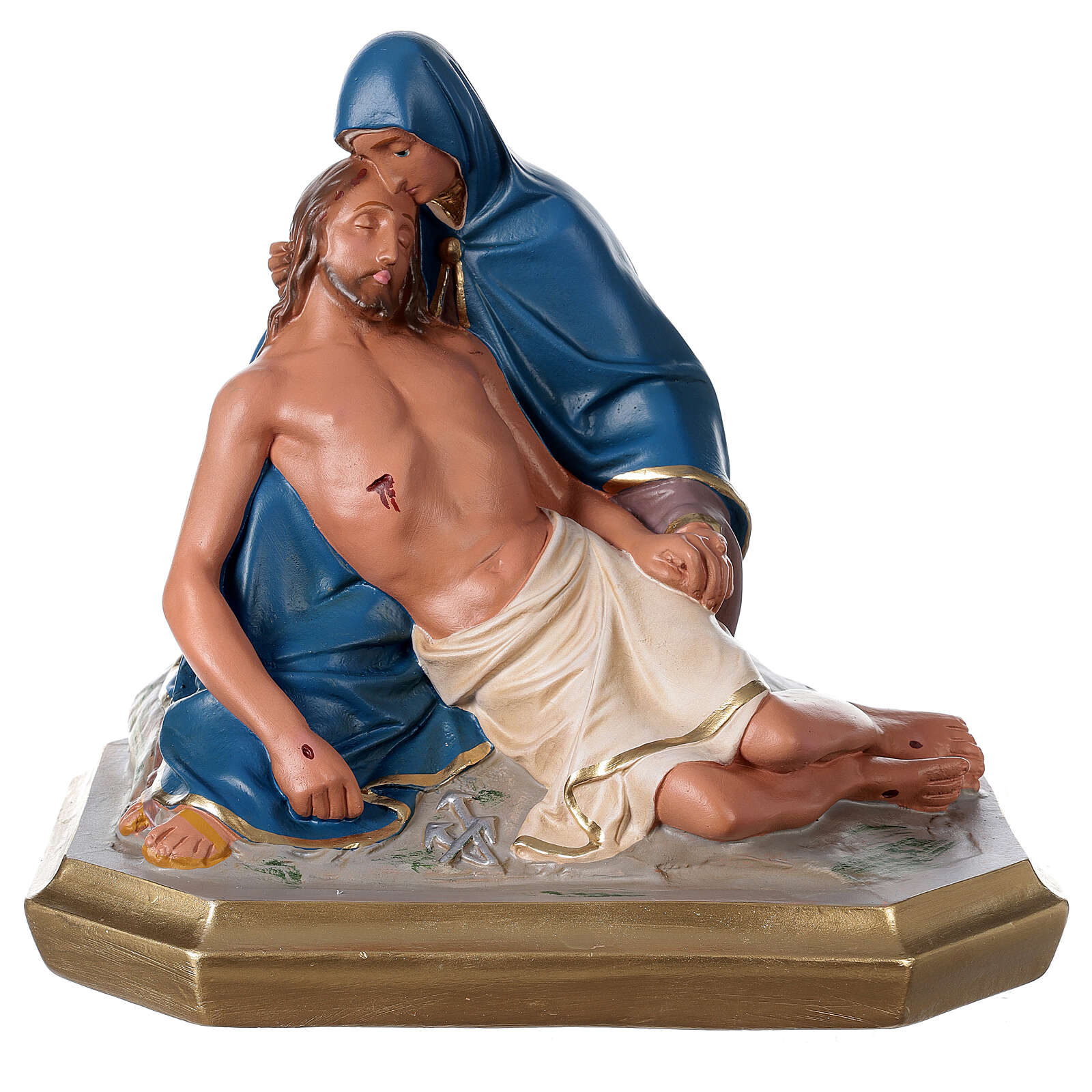Statua La Pietà gesso dipinta a mano 30x30 cm Arte Barsanti 4