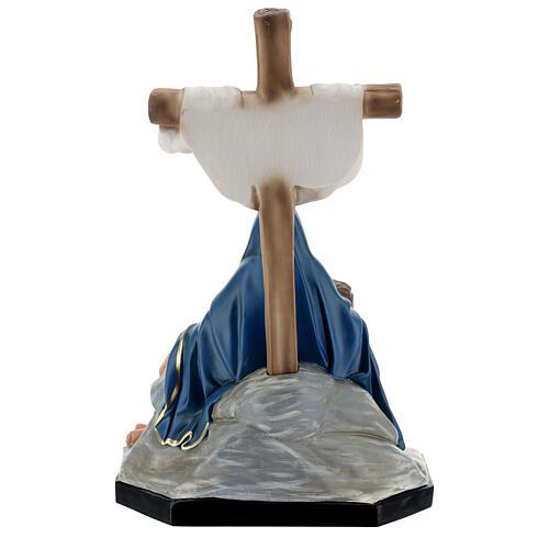 La Piedad estatua resina cruz 60 cm pintada a mano Arte Barsanti 6