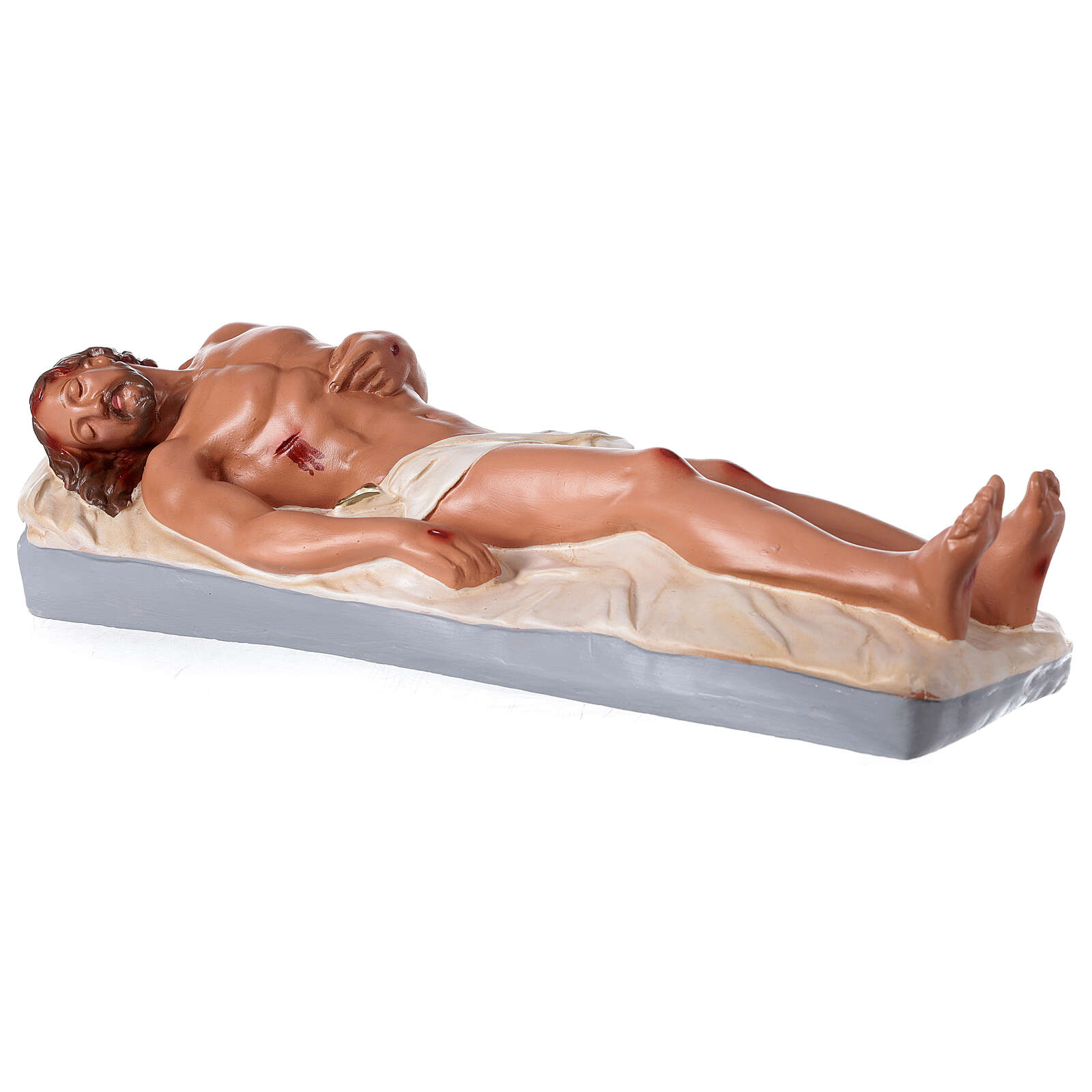 Dead Jesus 15x64 cm hand painted plaster statue Arte Barsanti  4