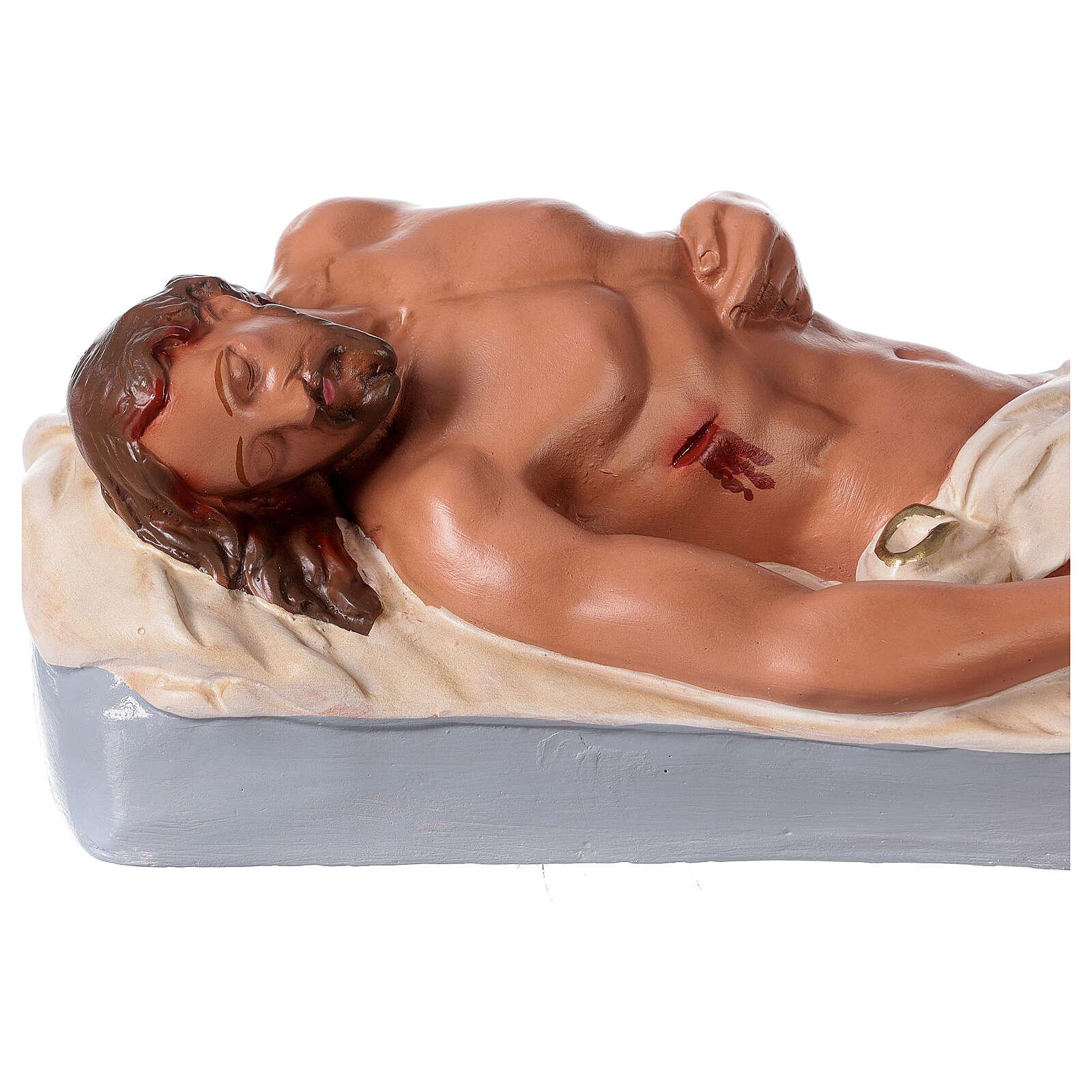 Gesù Morto statua gesso 15x46 cm dipinta a mano Arte Barsanti 4