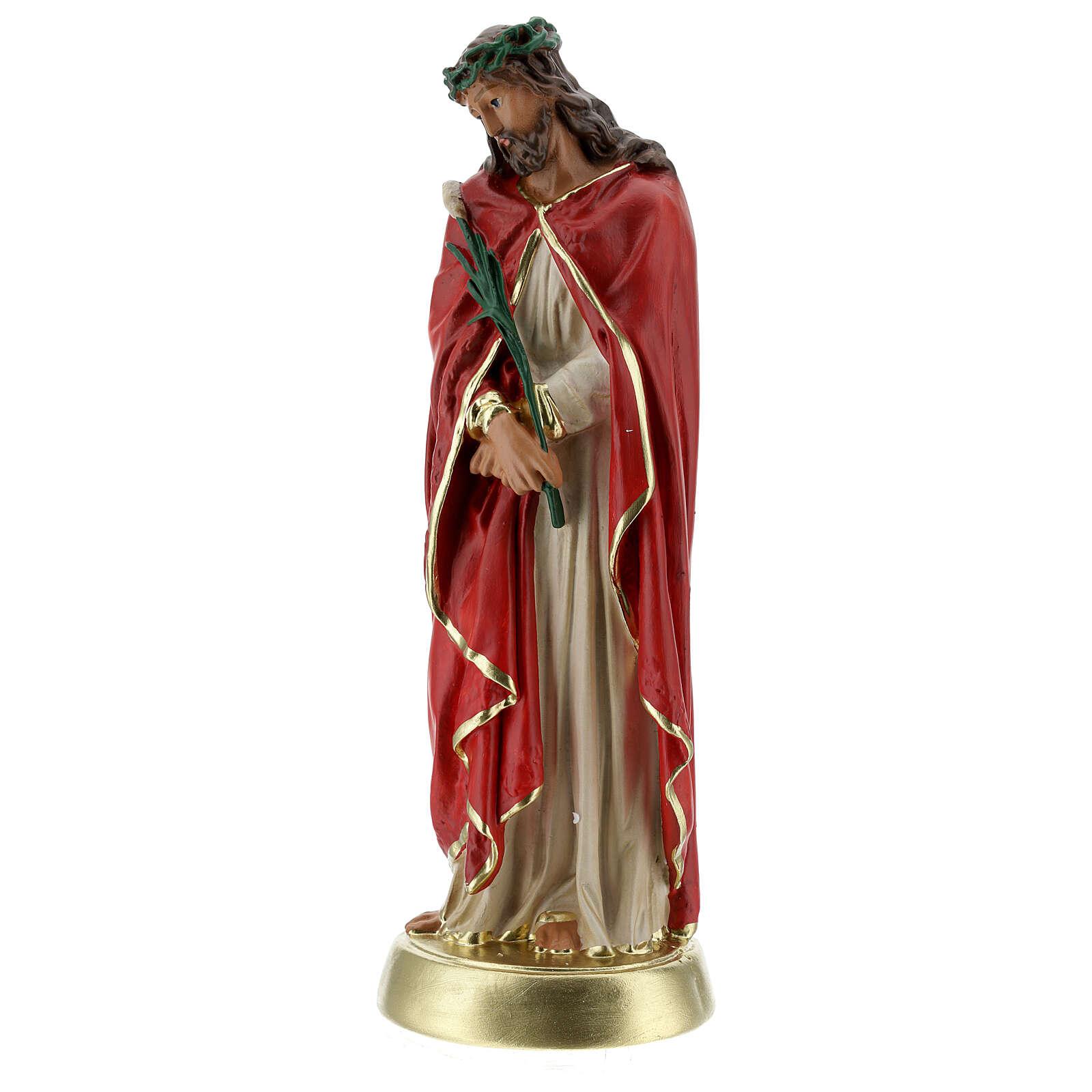 Ecce Homo statue plâtre 30 cm peinte à la main Arte Barsanti 4