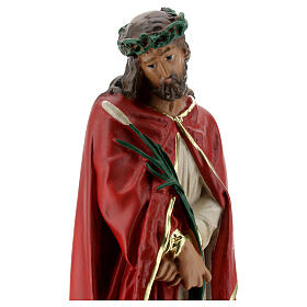 Ecce Homo statue plâtre 30 cm peinte à la main Arte Barsanti s2