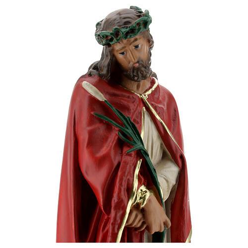 Ecce Homo imagem gesso 30 cm pintada à mão Arte Barsanti 2