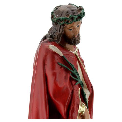 Ecce Homo imagem gesso 30 cm pintada à mão Arte Barsanti 6