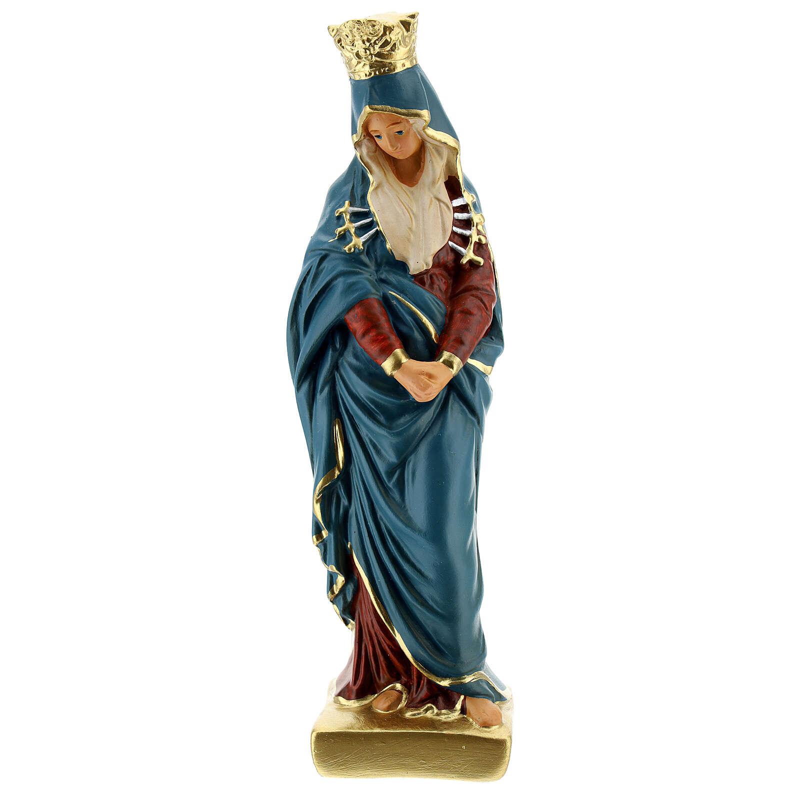 Notre-Dame sept épées statue plâtre 20 cm Arte Barsanti 4
