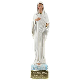 Statue Notre-Dame de Medjugorje 30 cm plâtre peint Barsanti s1
