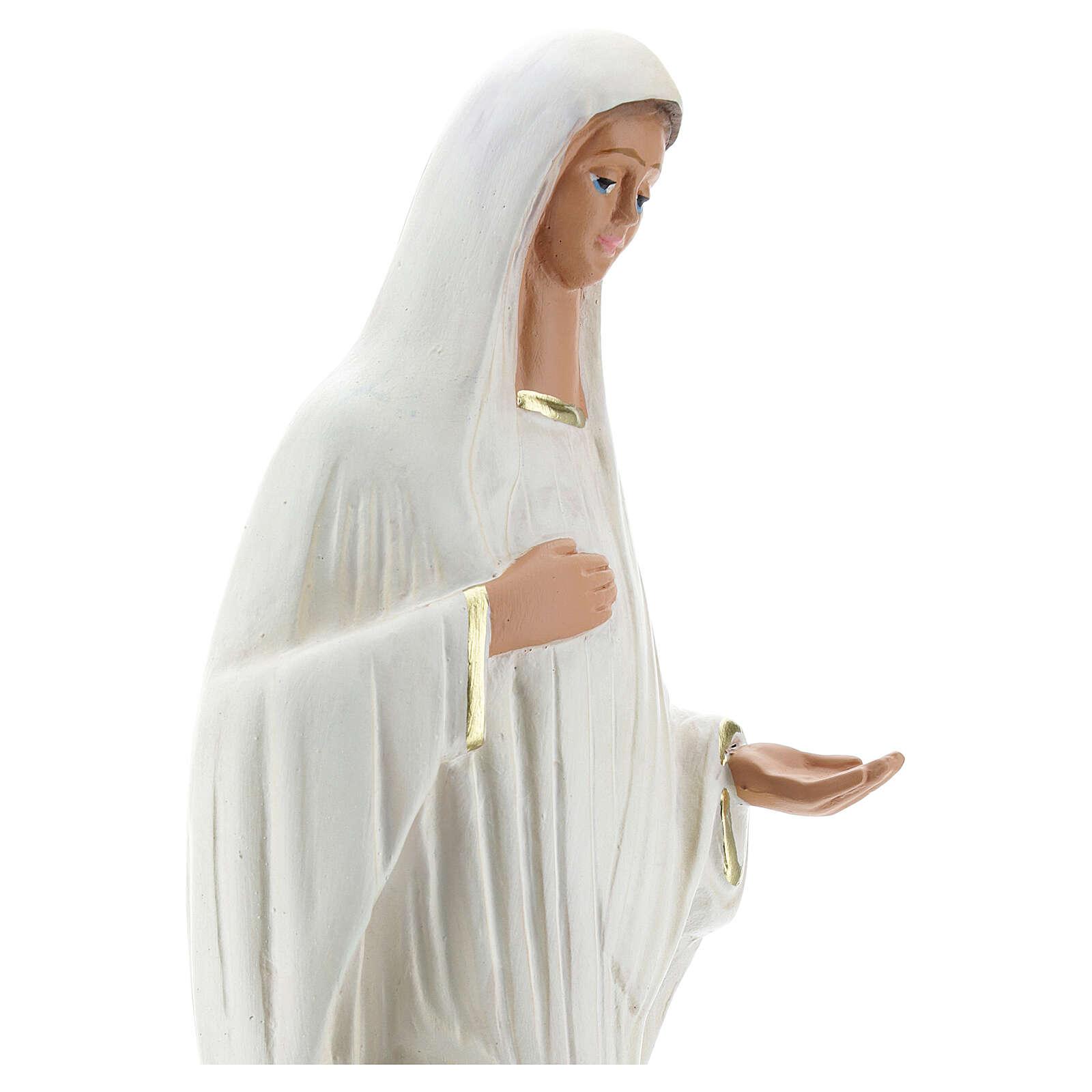 Statua Madonna Medjugorje 30 cm gesso dipinto Barsanti 4