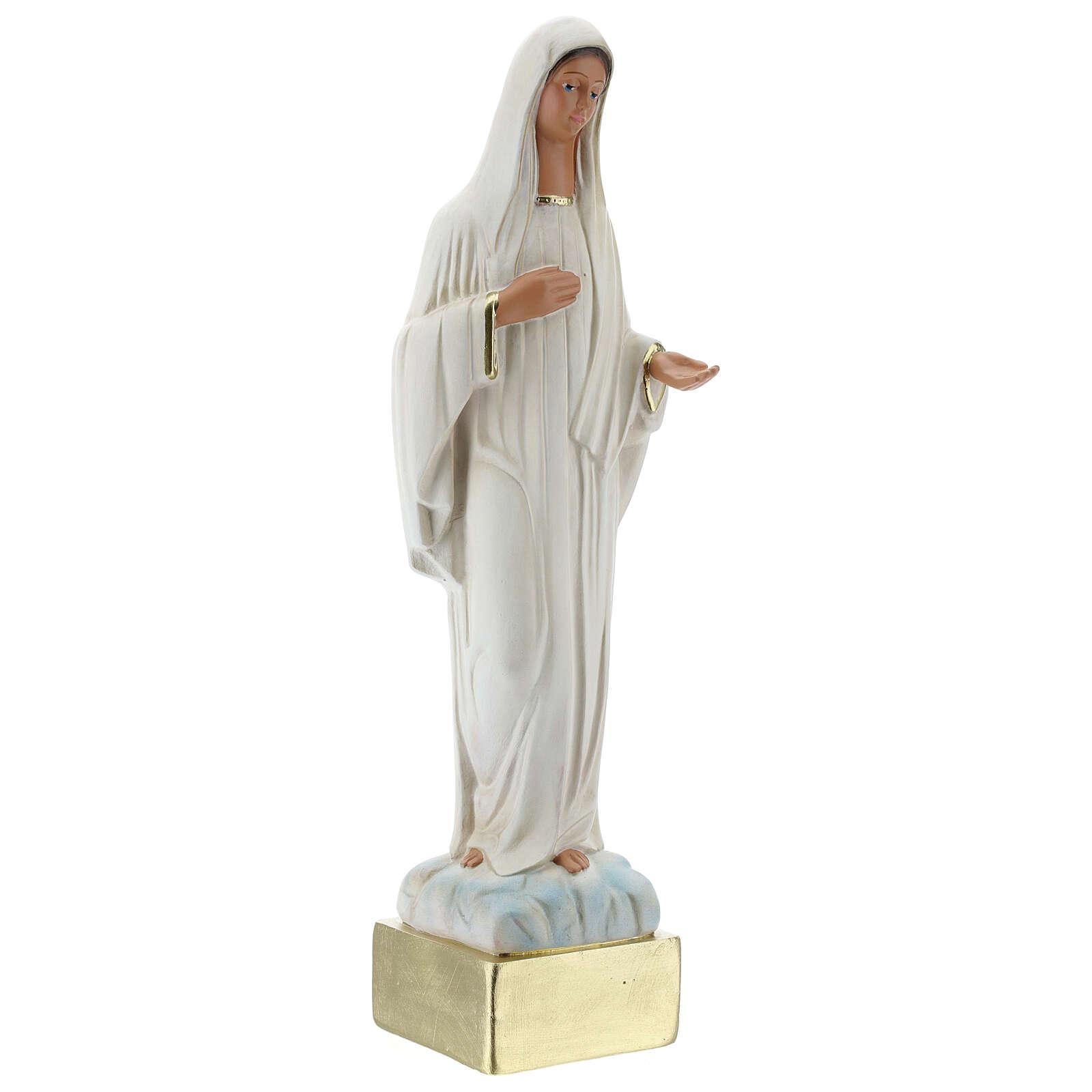 Our Lady of Medjugorje 37 cm plaster statue hand painted Arte Barsanti 4