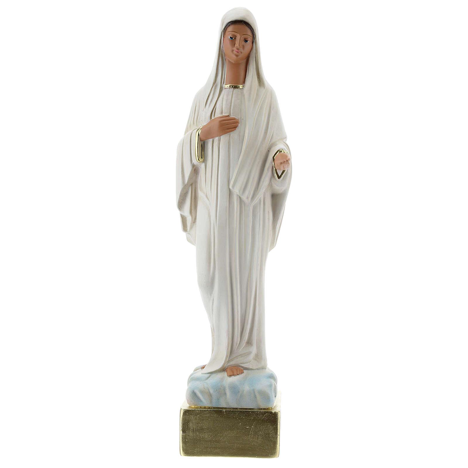 Notre-Dame de Medjugorje 37 cm statue plâtre peint main Barsanti 4