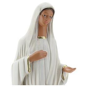 Our Lady of Medjugorje statue, 44 cm hand painted plaster Arte Barsanti s2