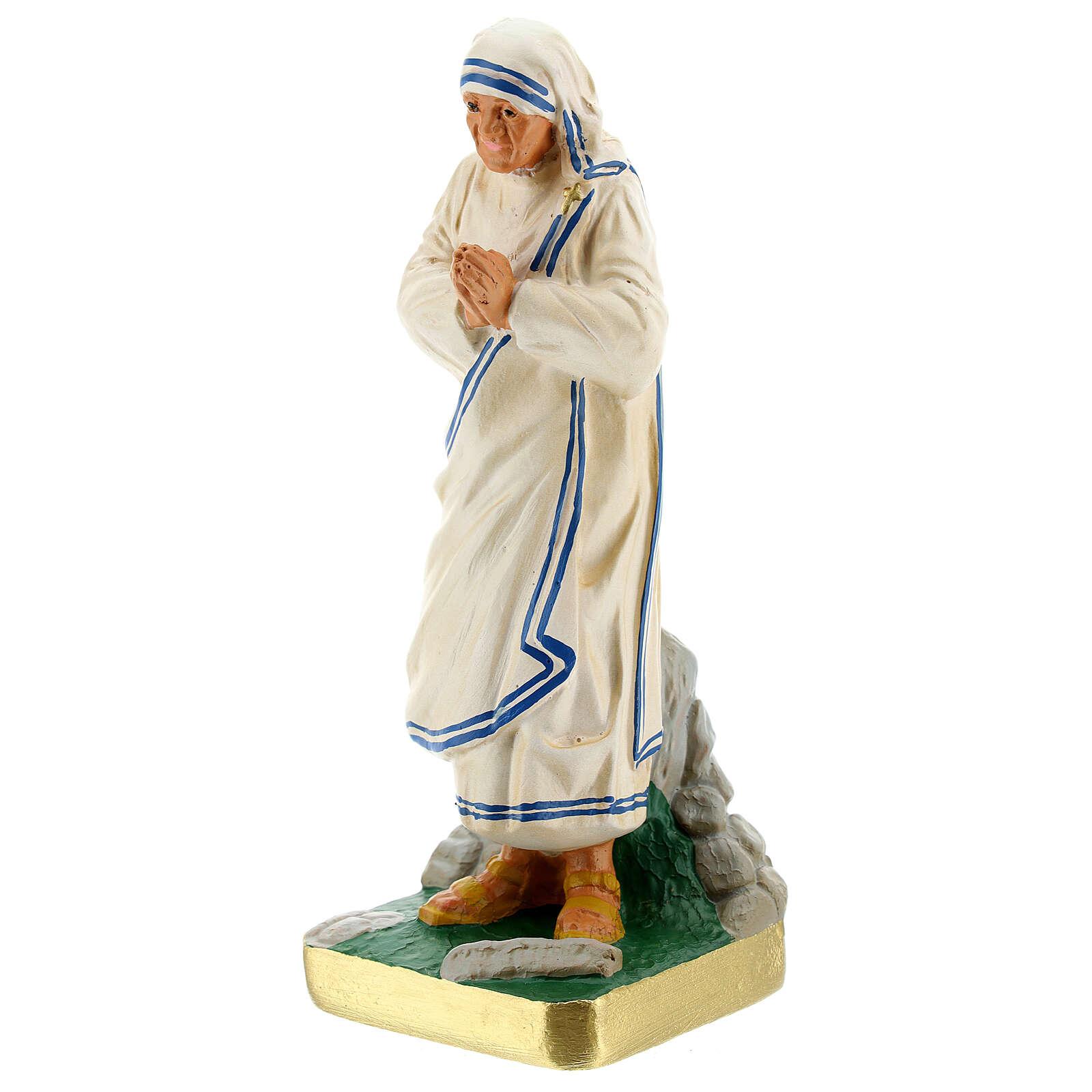 Mother Teresa hand painted plaster statue Arte Barsanti 20 cm 4