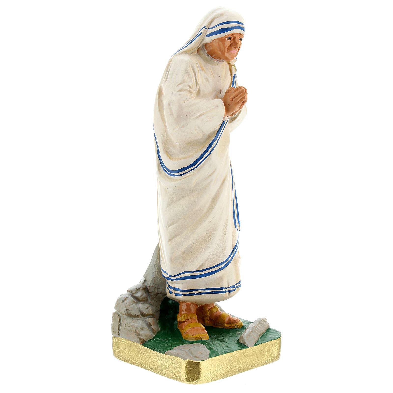 Mère Teresa de Calcutta state plâtre 20 cm Arte Barsanti 4