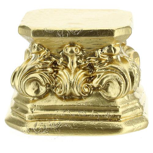 Base plâtre couleur or pour statue 8x8x8 cm Arte Barsanti 3
