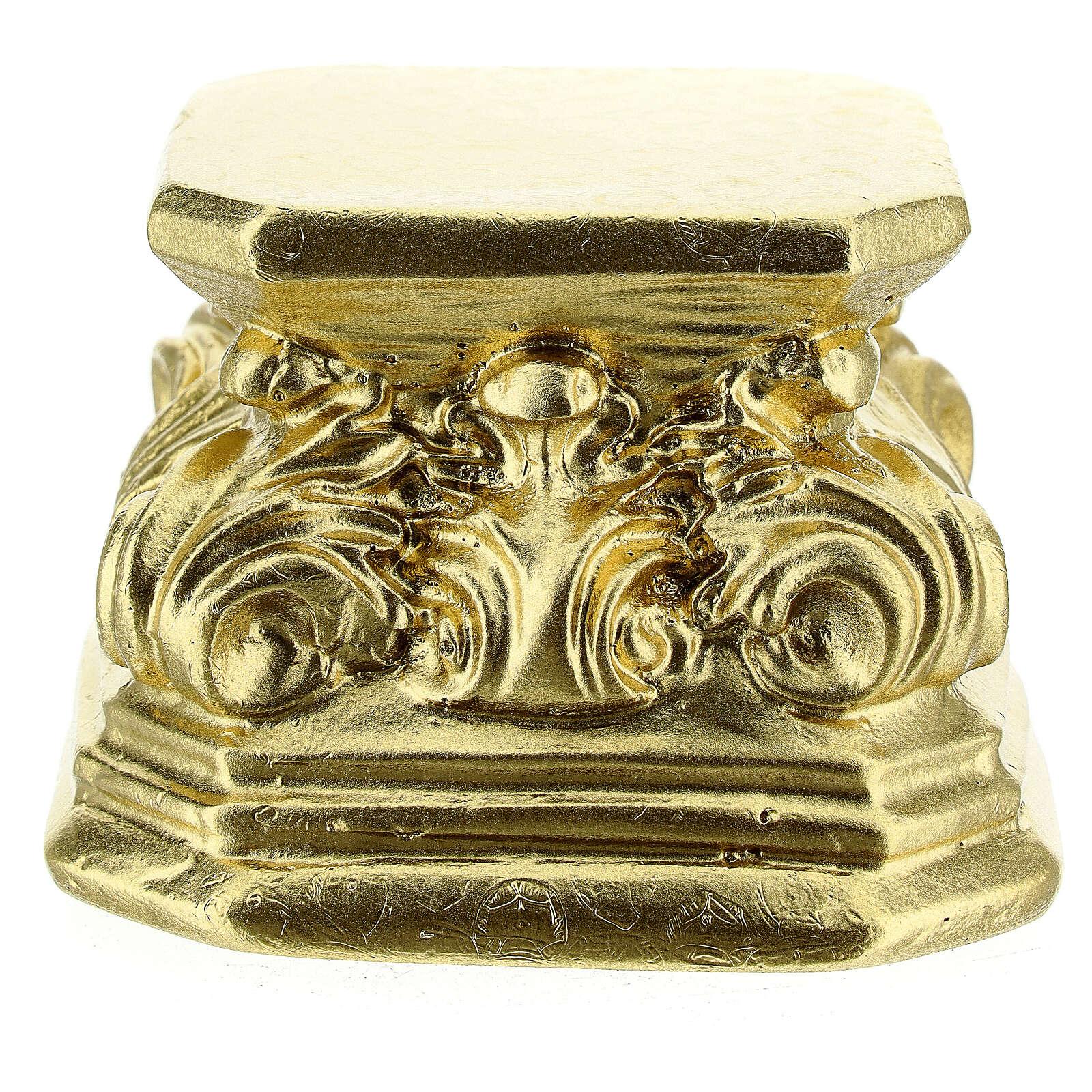 Gold plaster base for statues 3x3x3 in Arte Barsanti 4