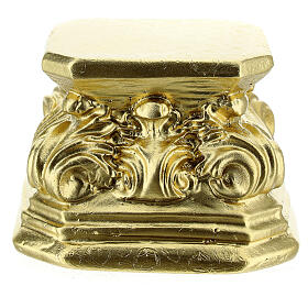 Gold plaster base for statues 3x3x3 in Arte Barsanti s1