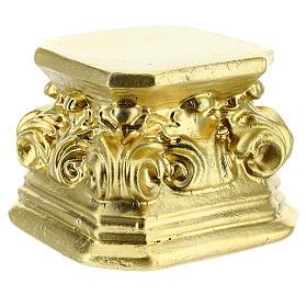 Gold plaster base for statues 3x3x3 in Arte Barsanti s2