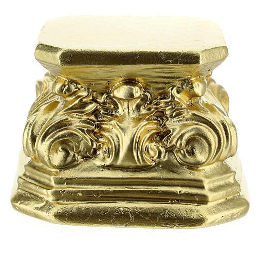 Gold plaster base for statues 3x3x3 in Arte Barsanti 1