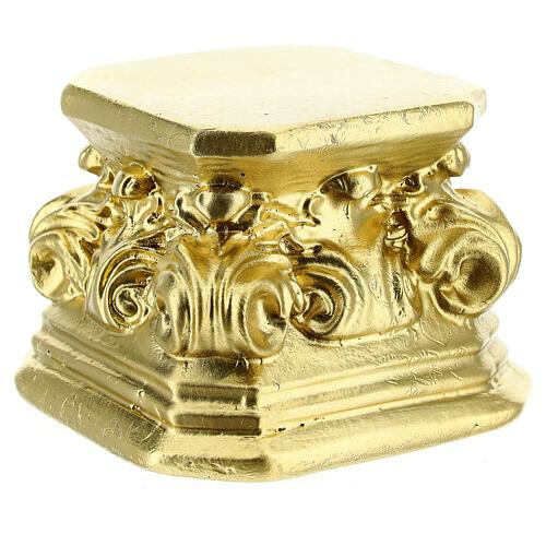 Gold plaster base for statues 3x3x3 in Arte Barsanti 2
