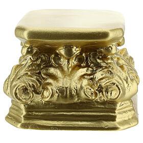 Gold plaster base for statues 11x11x9 cm Arte Barsanti s1