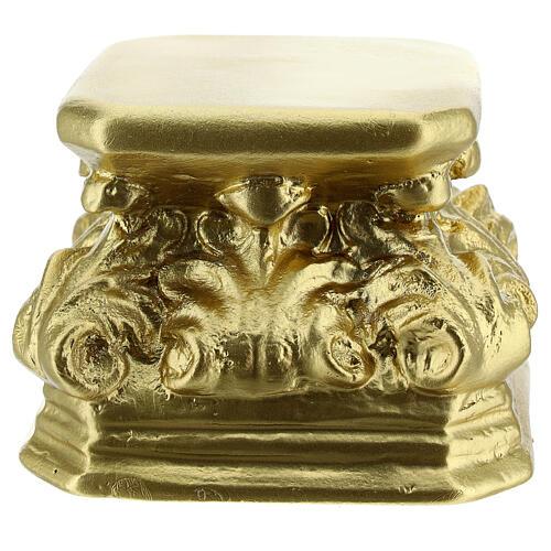 Base for statues golden plaster 4x4x3 1/2 in Arte Barsanti 1