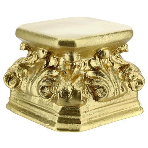 Base for statues golden plaster 4x4x3 1/2 in Arte Barsanti 2