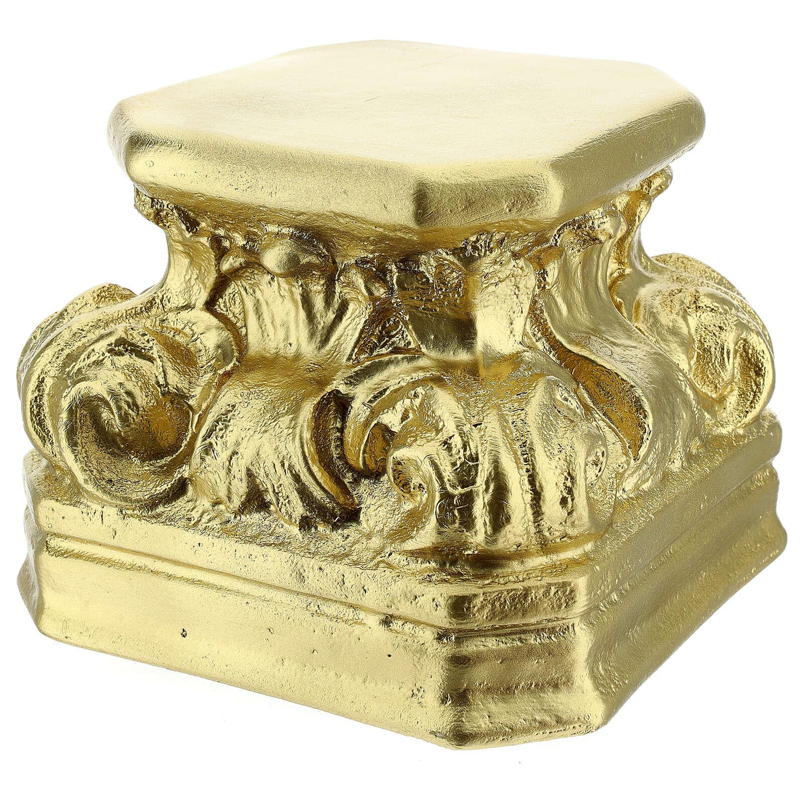 Gold plaster base for statues 14x14x14 cm Arte Barsanti 4