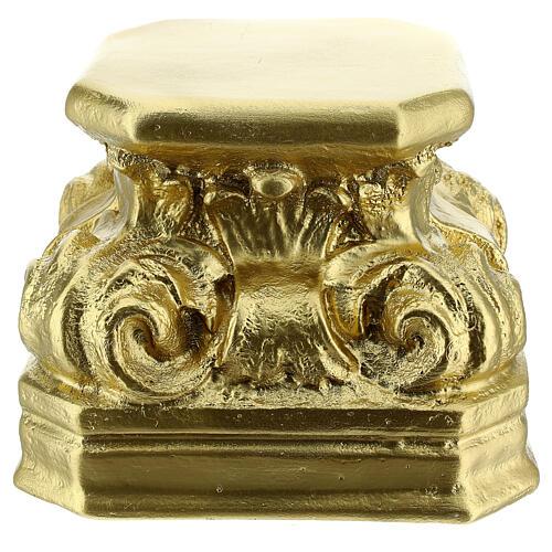Gold plaster base for statues 14x14x14 cm Arte Barsanti 1