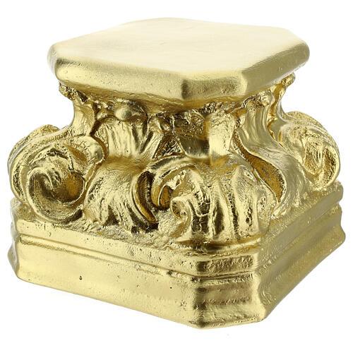Gold plaster base for statues 14x14x14 cm Arte Barsanti 2