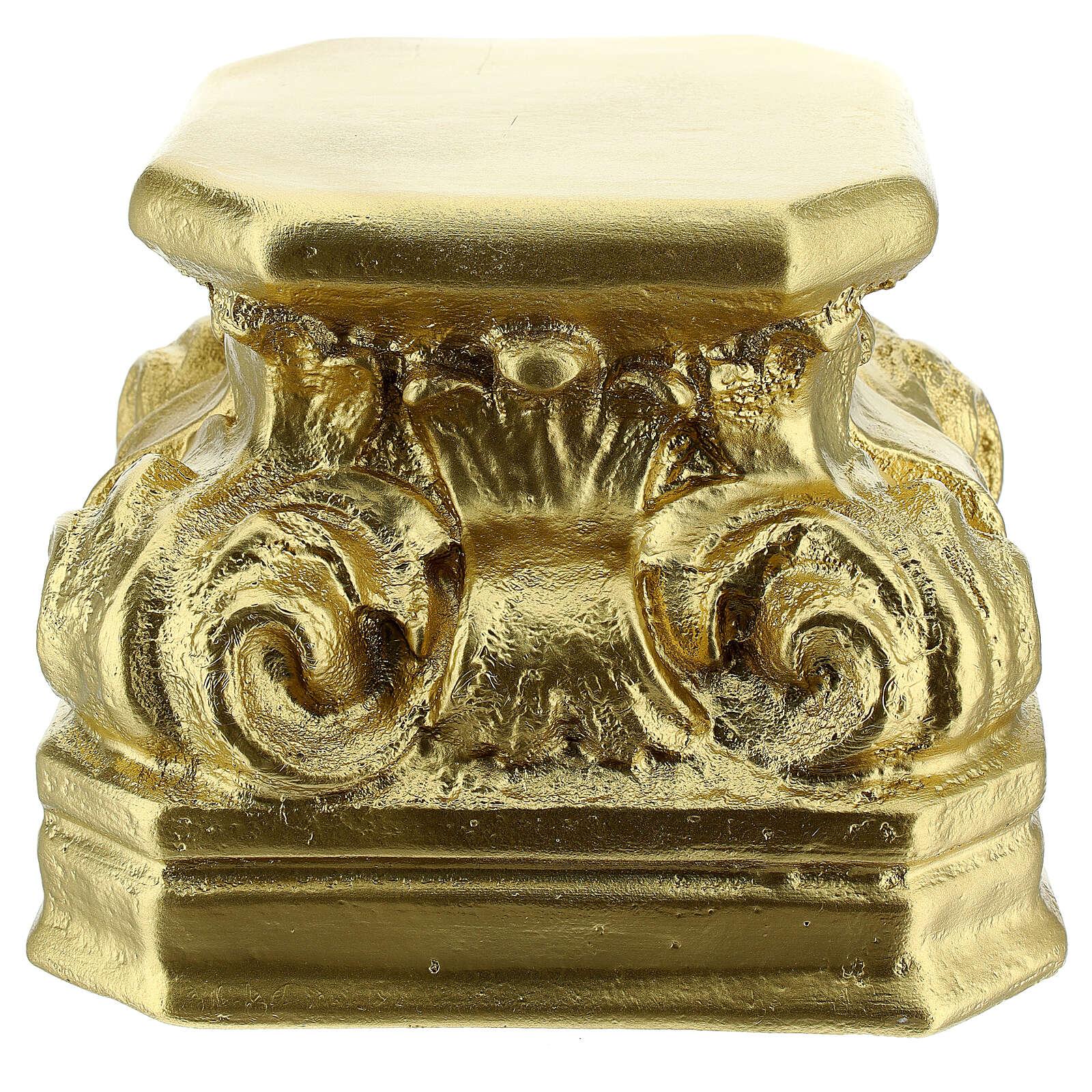 Base gesso oro per statue 14x14x14 cm Arte Barsanti 4